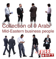 Arab Mid-Eastern Business Pepople Collection