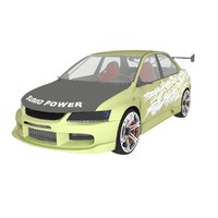 mitsubishi evolution 2003 3d max