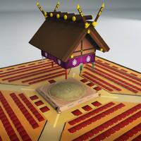 sumo arena 3d model