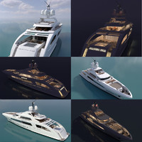 3d model yacht galactica star