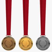 bronze medal 3d model