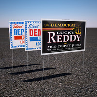 3d model political yard sign