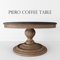 3ds max coffe table piero