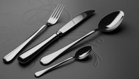 3d model cutlery set spoon fork