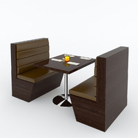 restaurant booth 3d max