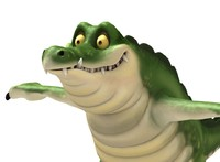 3d model of croc cartoon crocodile