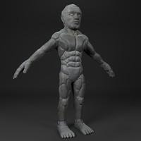 3d model stone golem