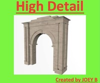 3d model of decorative archway