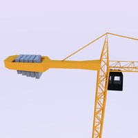 crane construction 3d obj