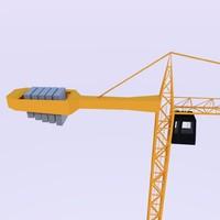 crane construction 3d obj