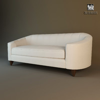 baker oval sofa 63881-81 3ds