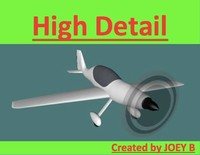 3d model stunt aircraft