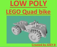 realistic lego quad bike 3d model