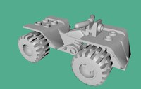 3ds max realistic lego quad bike