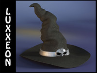 3d model witch hat
