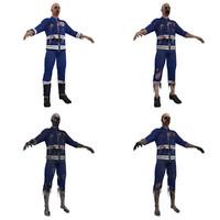 3d zombie paramedics model