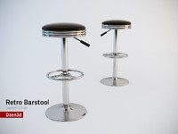 Retro style black swivel seat