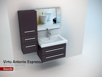virtu antonio bathroom vanity 3d model