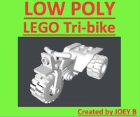 3d realistic lego tri-bike model