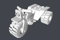 realistic lego tri-bike obj
