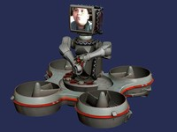trackbot robot animation 3d model