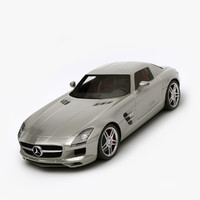 3d 3ds mercedes benz sls amg