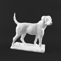 3d sculpture dog