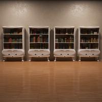 bookcase neoclassic 3d max