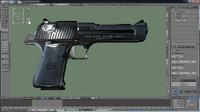 deagle>pistol>animation>weapon>shoot>frame 3d model