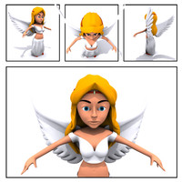 arab female character 3d 3ds