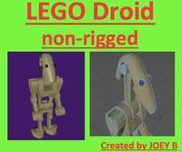 3d realistic lego battle droid