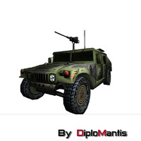 Hummer military low poly