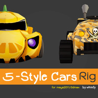 3d model rig style 5 car
