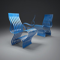 blue-current-chair 3d model