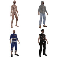 pack rigged zombies max