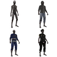 3d model pack rigged zombies