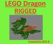 maya realistic lego dragon rigged