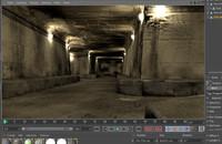 underground tunnel c4d