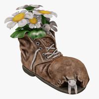 3d vase shoe