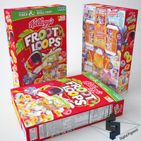 3ds froot loops cereal box
