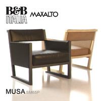 3d model of b italia musa armchair