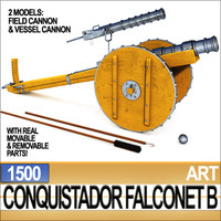 conquistador cannon falconet b 3ds