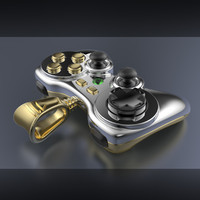 Gold Gamepad (pendant)