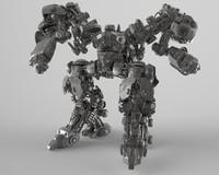 3d model zbrush concept mech -
