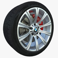 bridgestone potenza tire polys 3d model