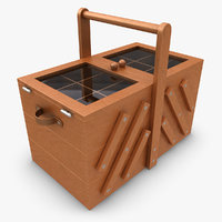 3d sewing box close