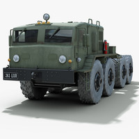 3d soviet maz 537 towing