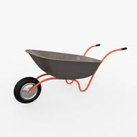 wheelbarrow arnold 3d obj