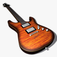 electric guitar schecter 3d model