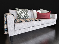 KARLSTAD sofa with pillows and plaid IKEA